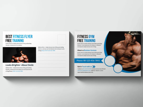 Sports & Wellness Postcard Design Template