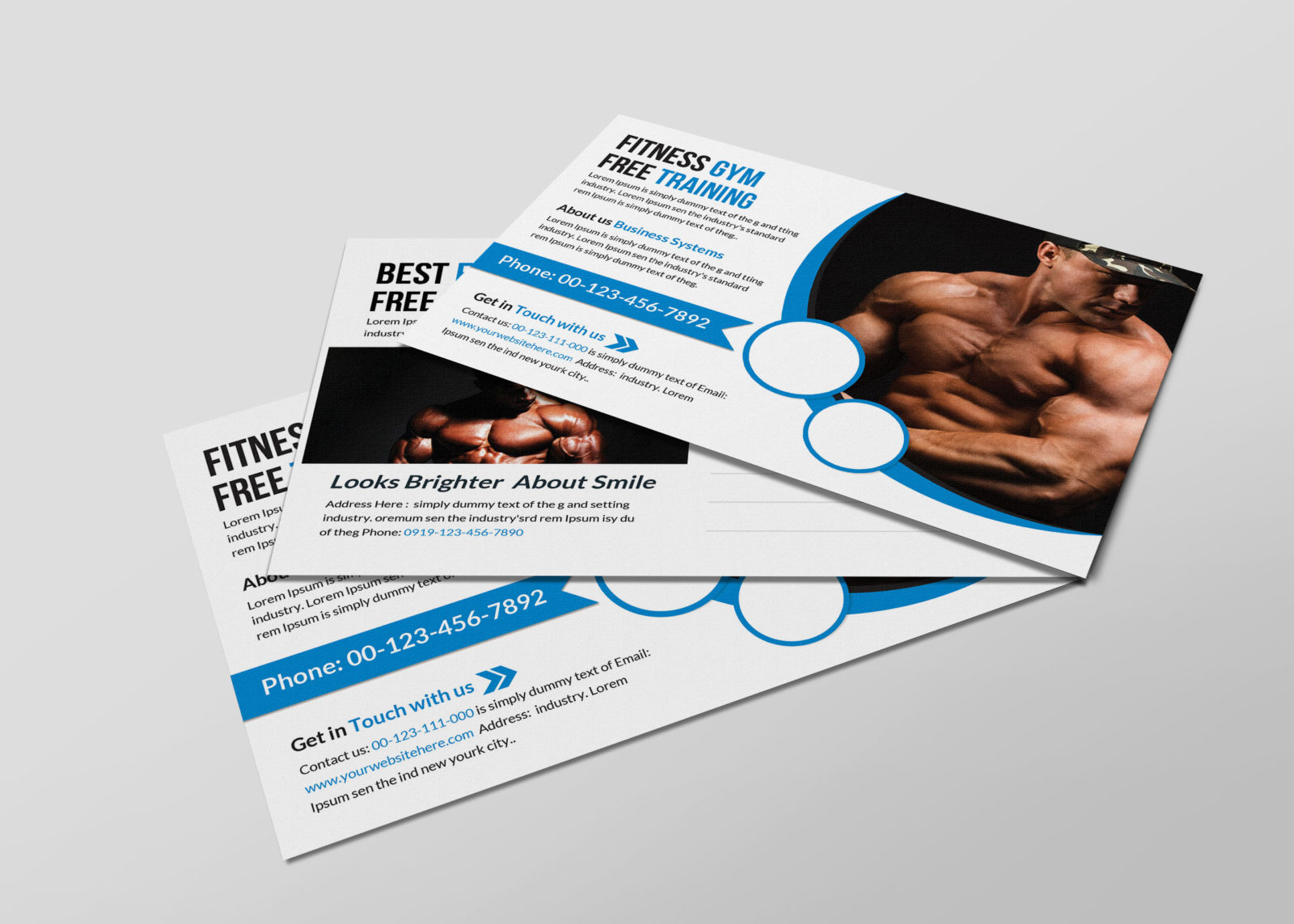 Wellness Postcard Design Template