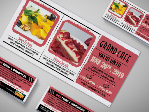 Cardboard Coupon Card Design Template