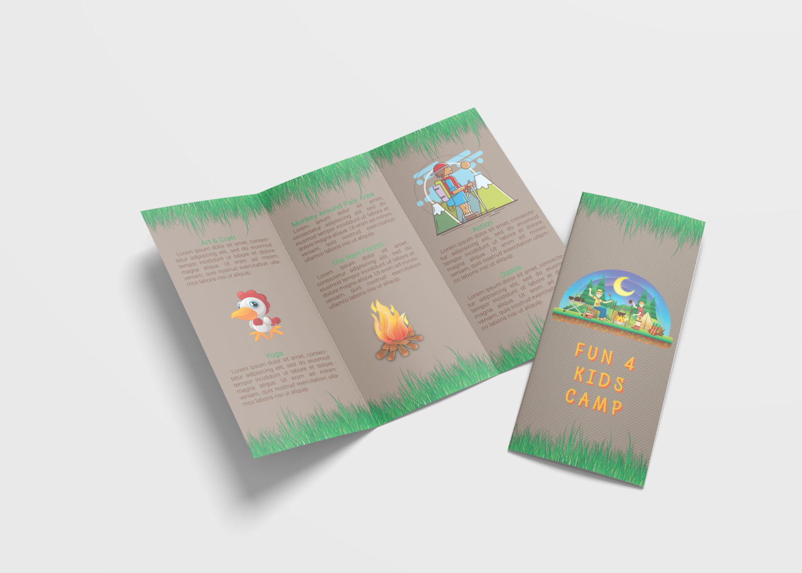 Summer Tri Fold Brochure Design Template
