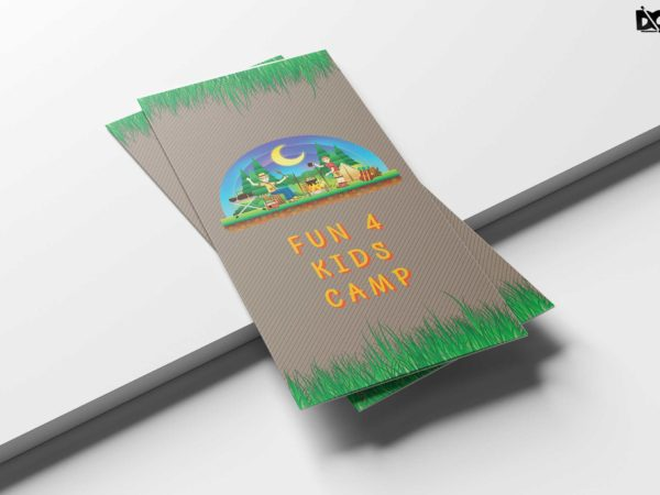 Summer Camp Tri Fold Brochure Design Template