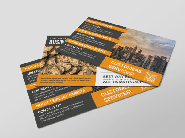 Technology Business Postcard Design Template
