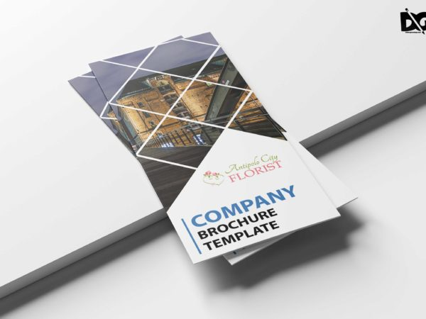 Tourist Holiday Tri-Fold Brochure Design Template