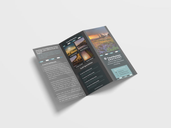 Travel Agency Tri-Fold Brochure Design Template