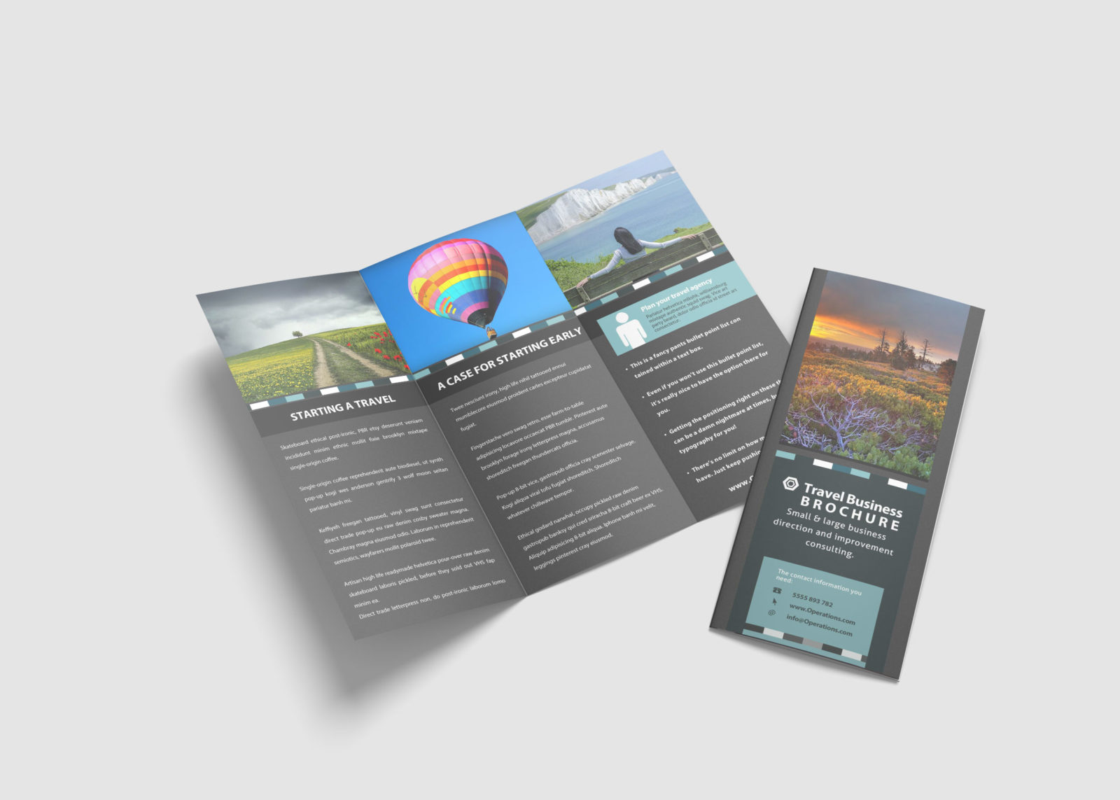 Travel Tri-Fold Brochure Design Template