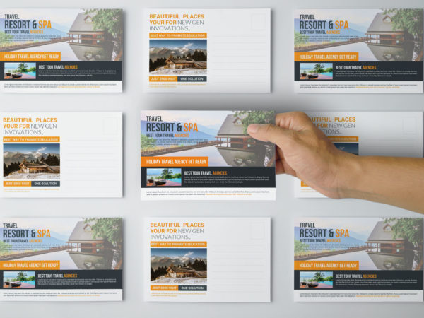 Travel Postcards PSD Design Template