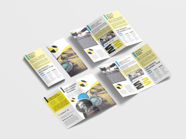 Watch Selling Tri-Fold Brochure Design Template