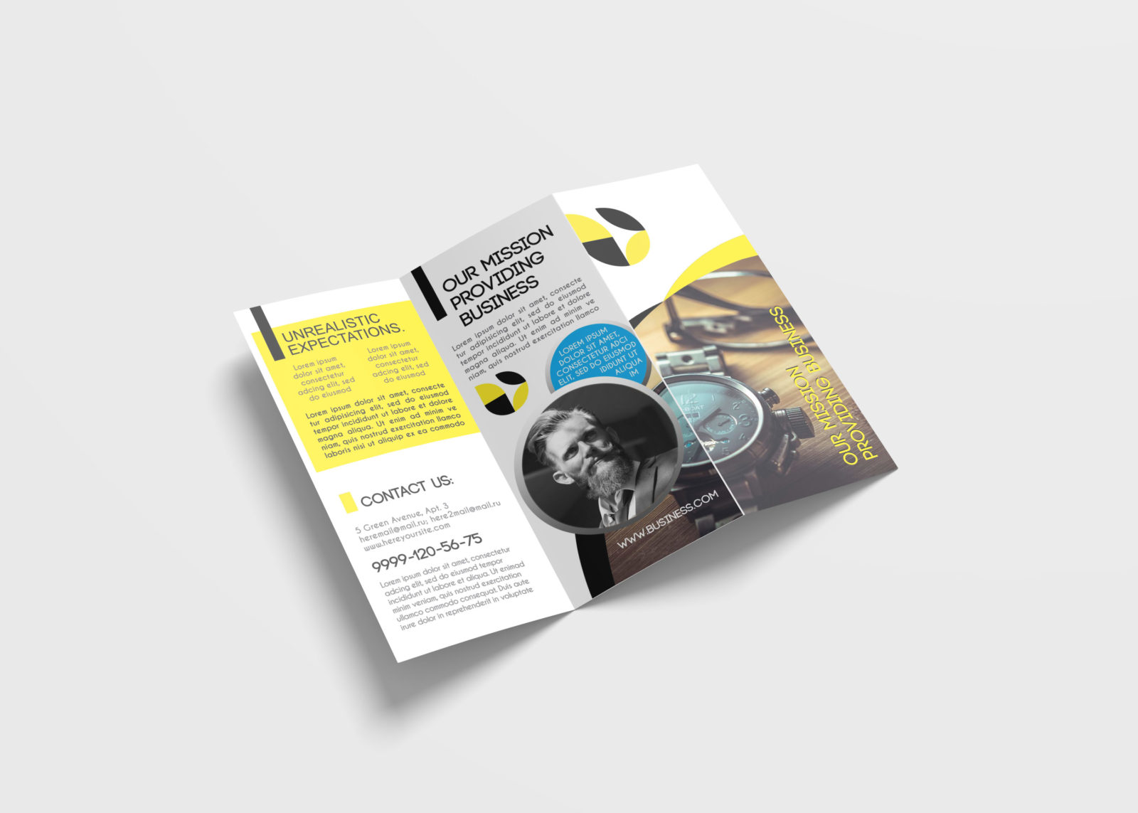 Watch Tri-Fold Brochure Design Template