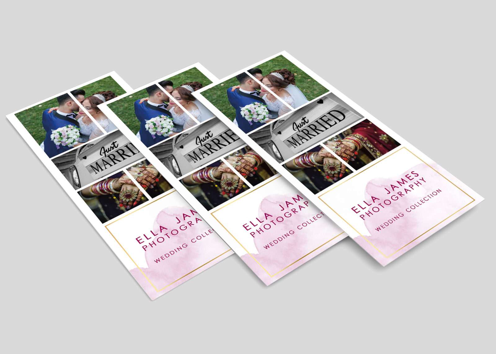 Wedding Photographer Rack Card Design Template