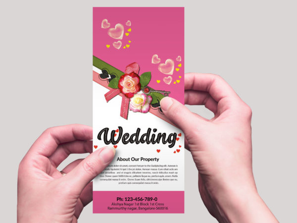 Wedding Photography Studio Rack Card Design Template