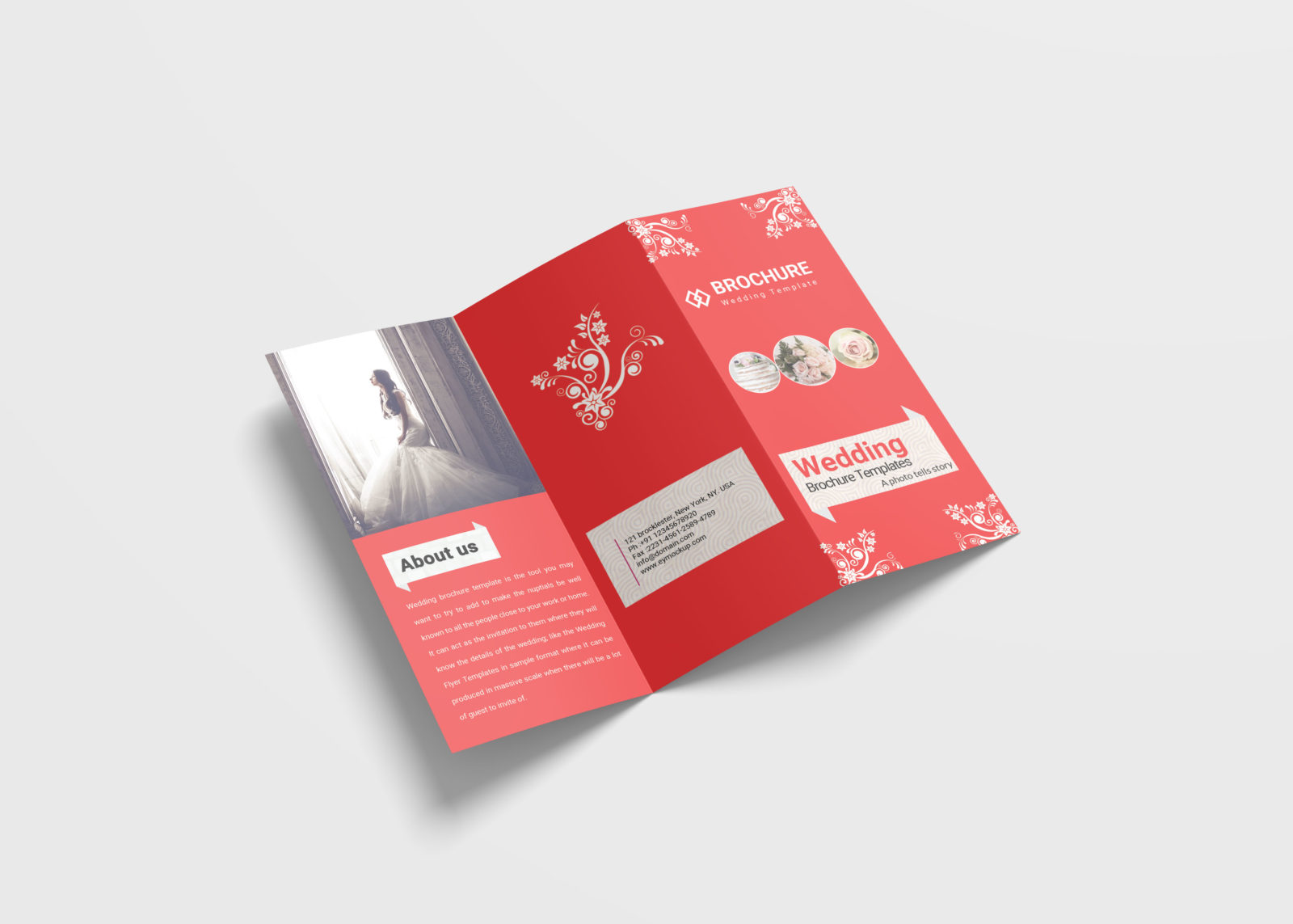 Wedding Tri-Fold Brochure Design Template