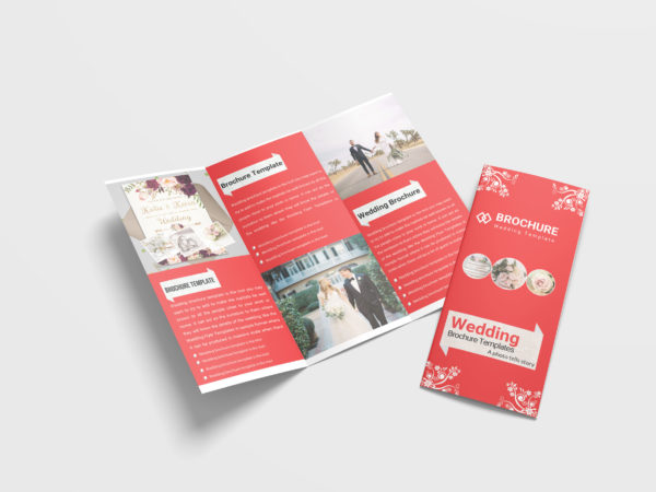 Wedding Planner Tri-Fold Brochure Design Template