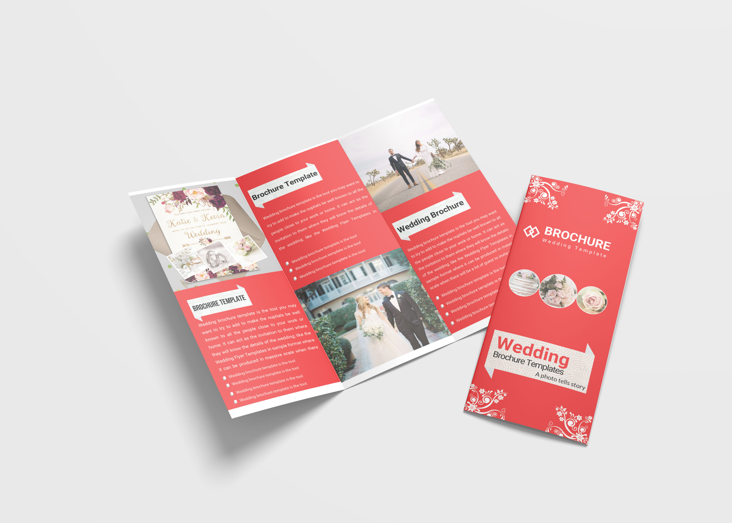 Wedding Planner Tri Fold Brochure Design Template 99effects