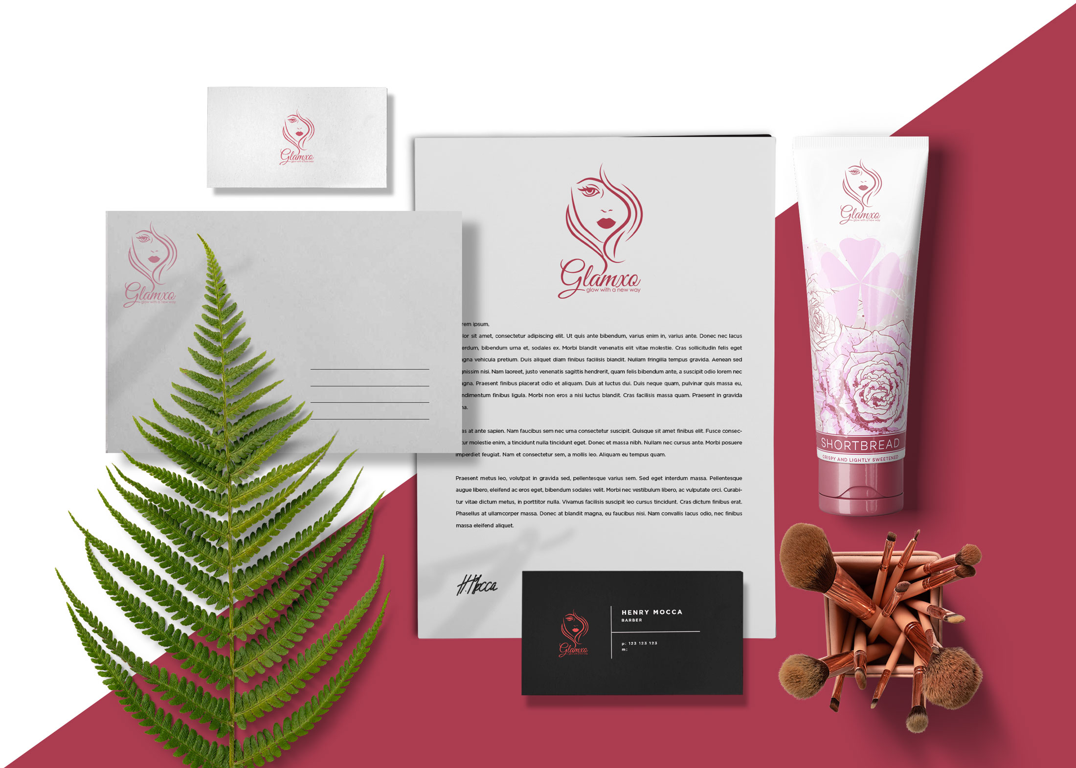Cosmetic Branding Sense Product Mock-Up