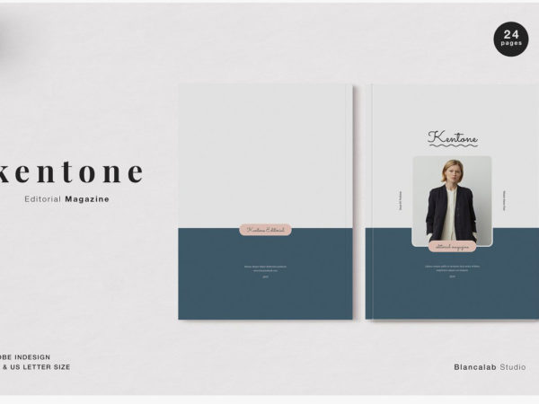 Feminine Kentone Editorial Magazine Template