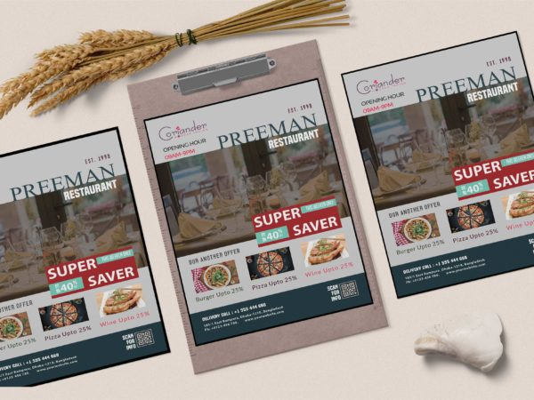 PSD Food Menu Design Template