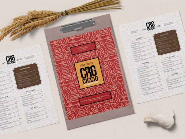 Restaurant Menu psd