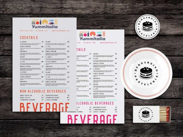 Bills Food Menu Template