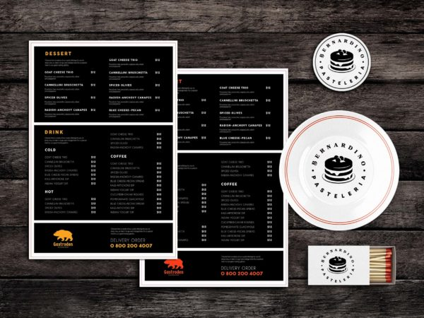 Sized Food Menu Template