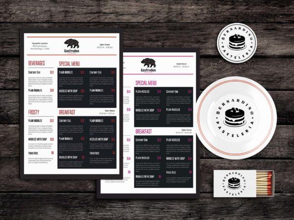 Dine Fine Food Menu Template