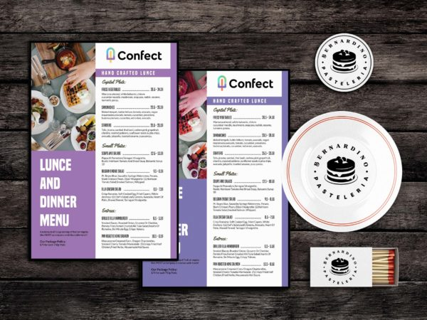 Foodstuff Menu Template PSD