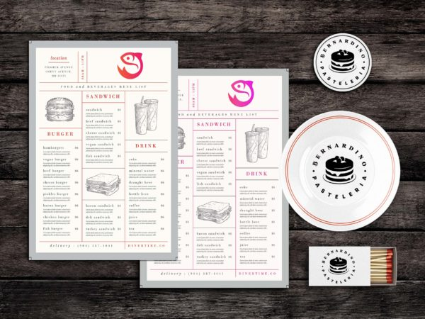 Lunch Chow Food Menu Template