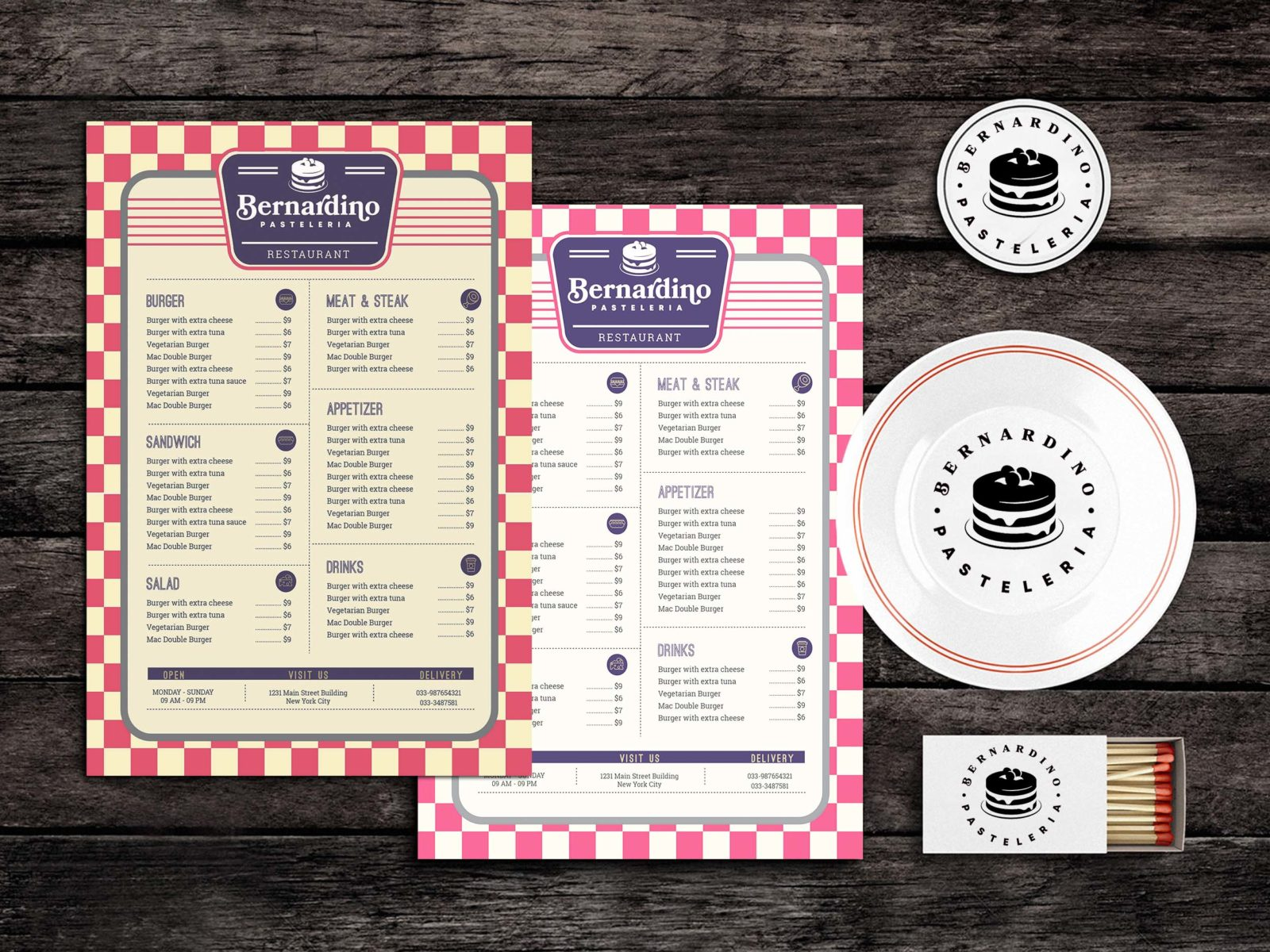 Mess Food Menu Template
