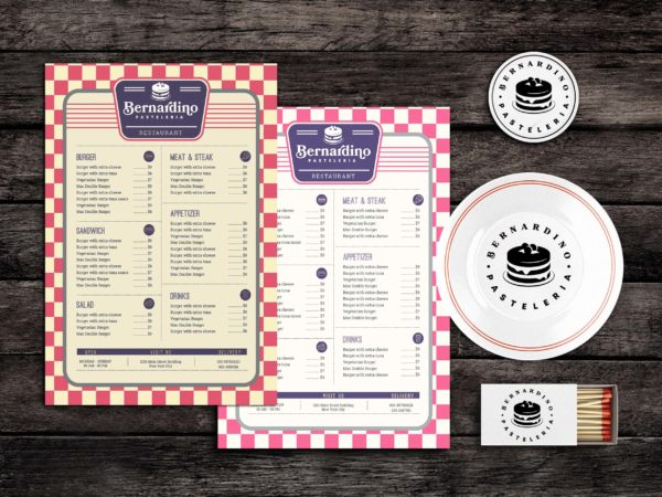 Mess Hall Food Menu Template