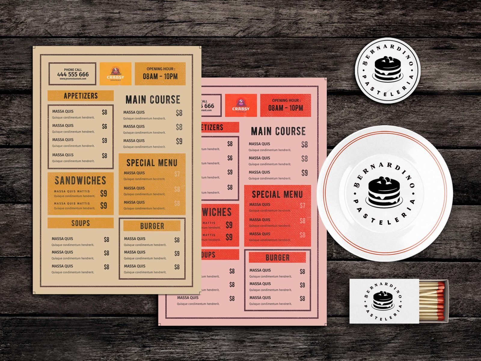 Eats Food Menu Template