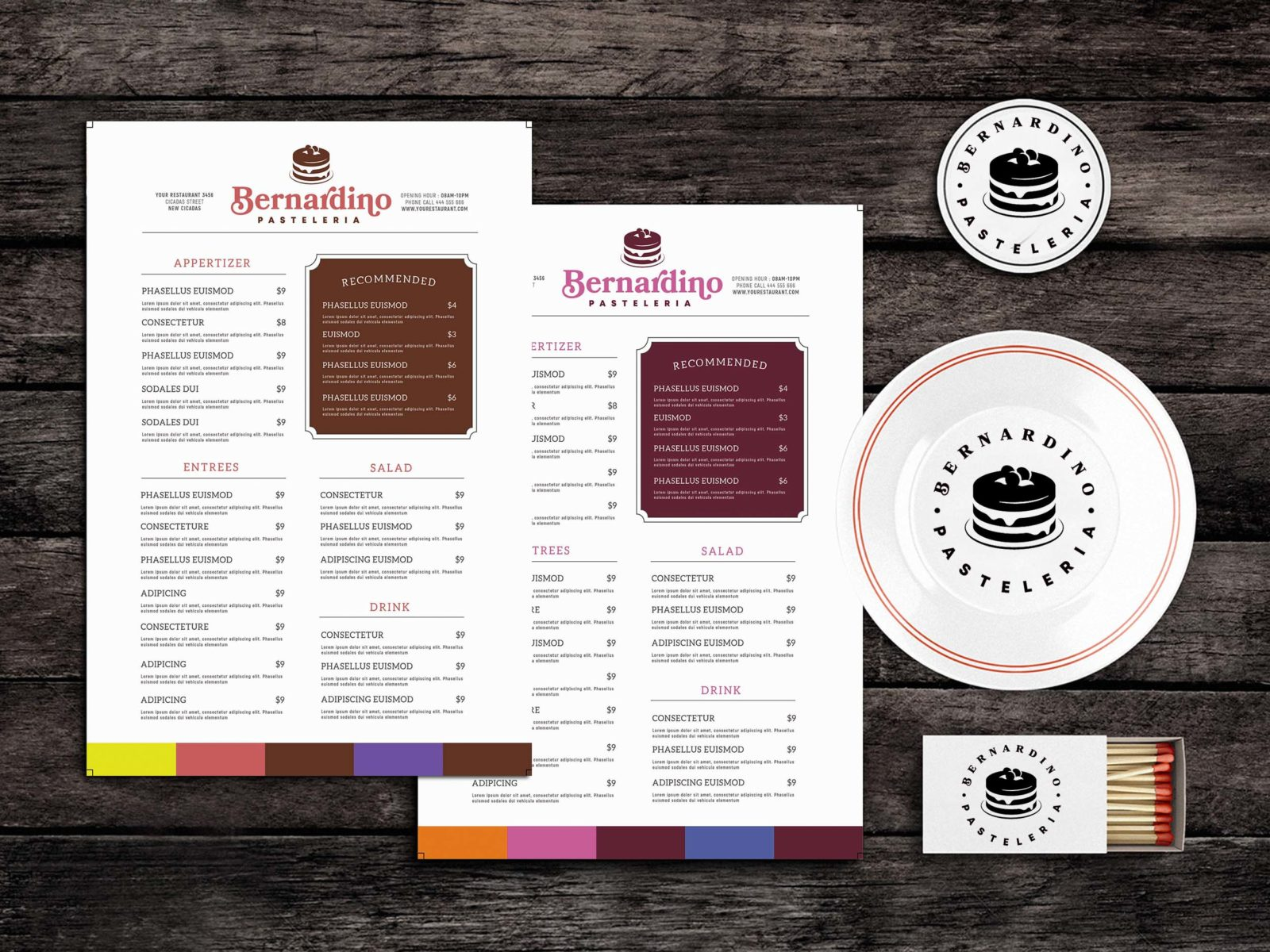 Diet Food Menu Template