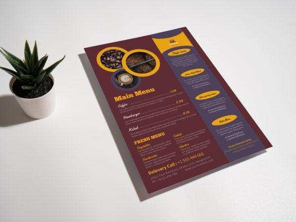 Cafe Menu PSD Template 2020