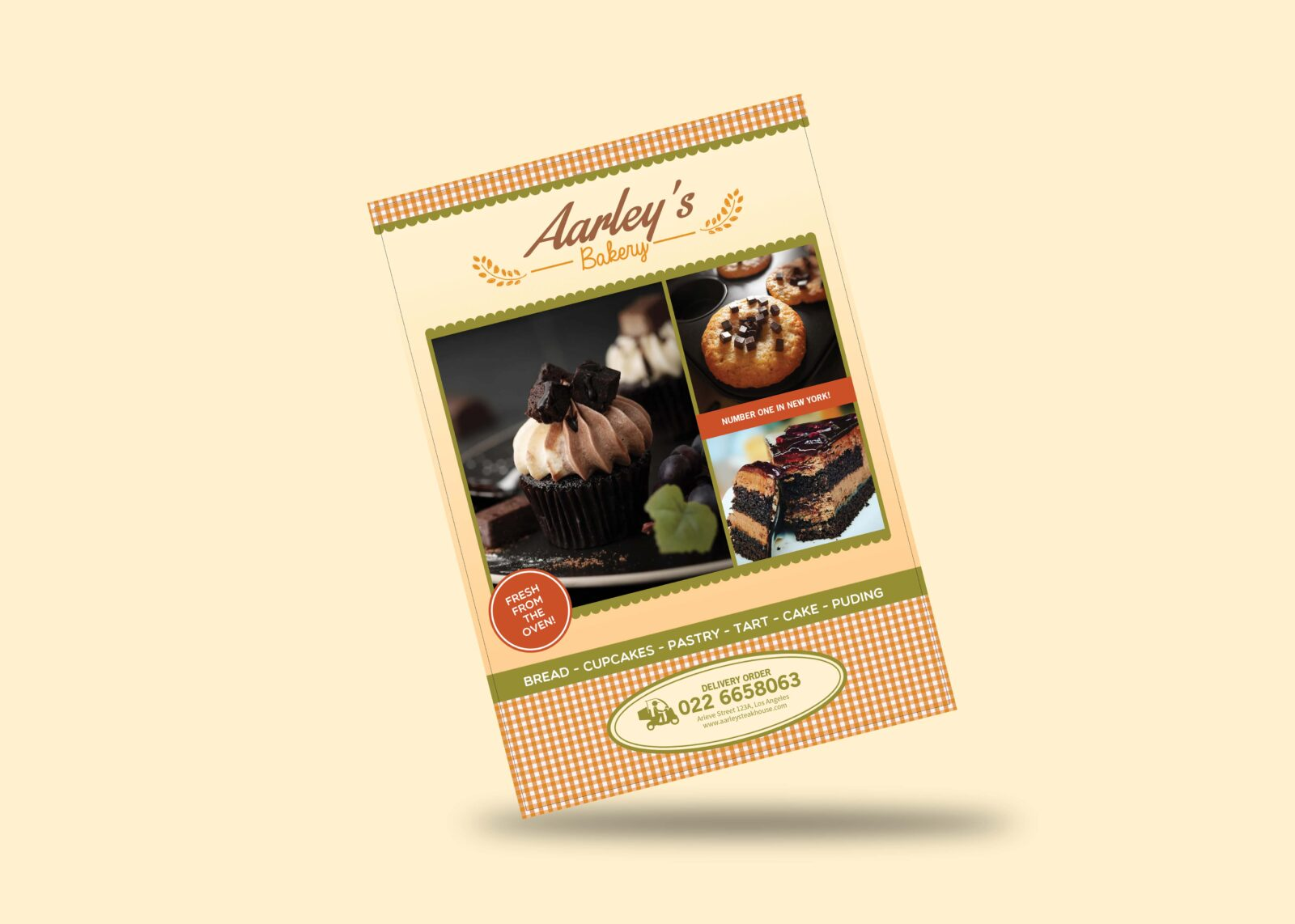 Bakery Menu Flyer