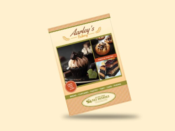 Bakery Menu Flyer Psd Template