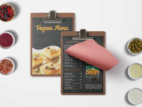Black Orange Menu Design