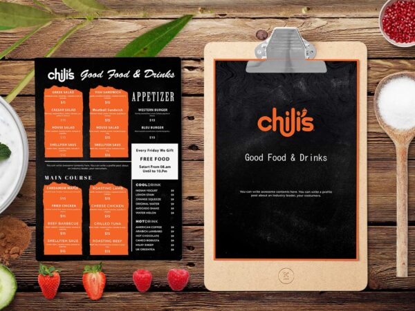 Chilis Mexican Food Menu Bifold Design