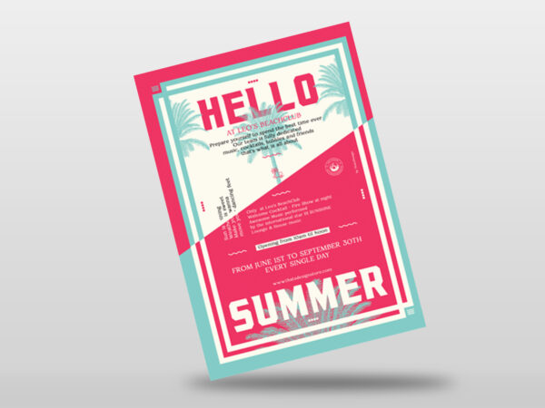 Colorful Summer Flyer Templates