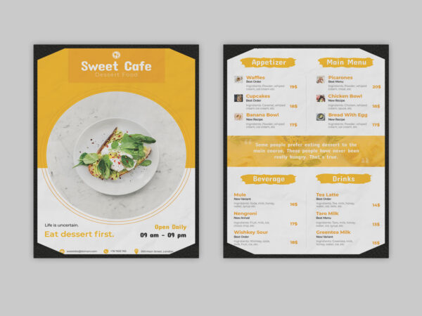 Food Restaurant Menu PSD Template