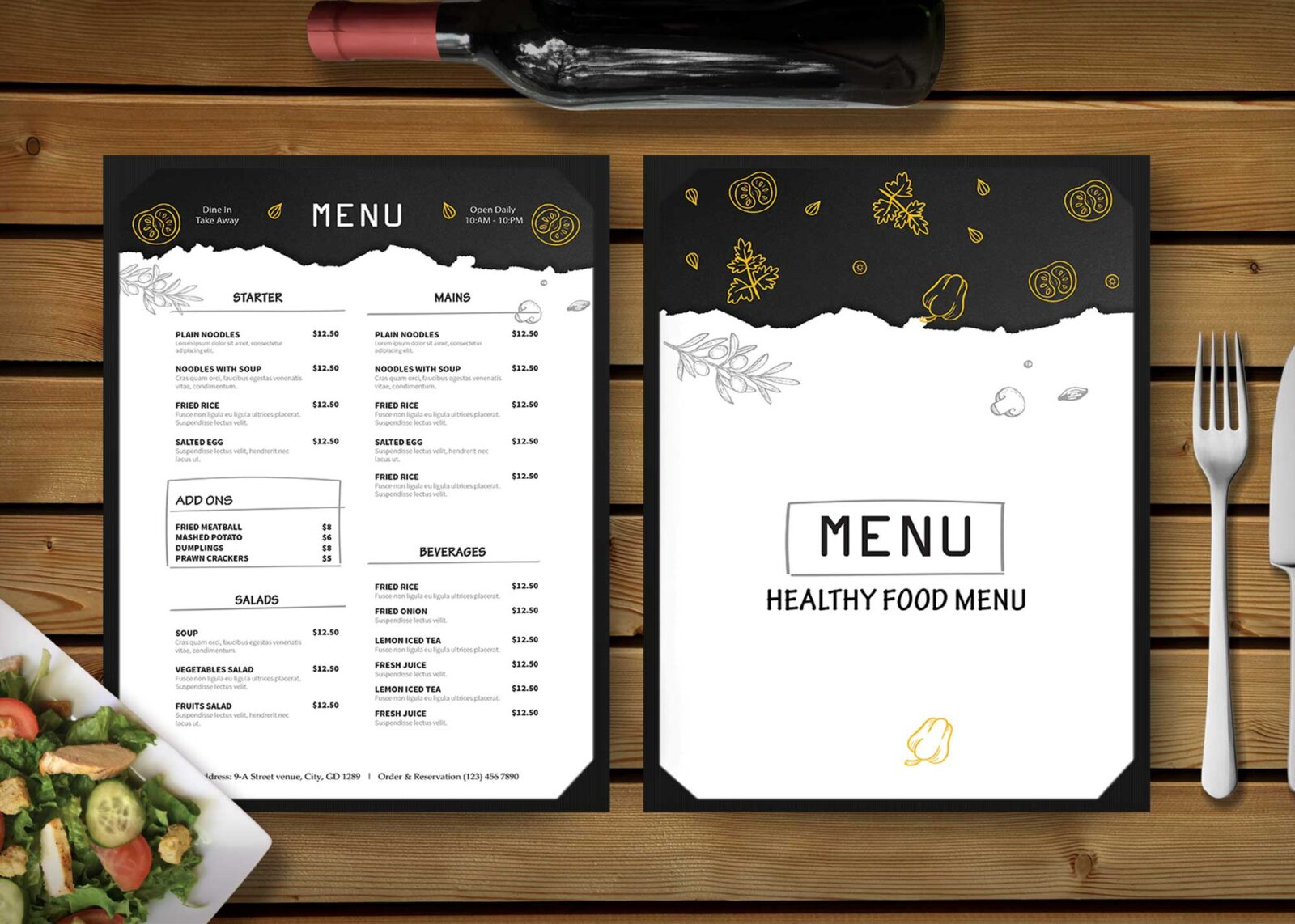 Healthy Food Menu Design
