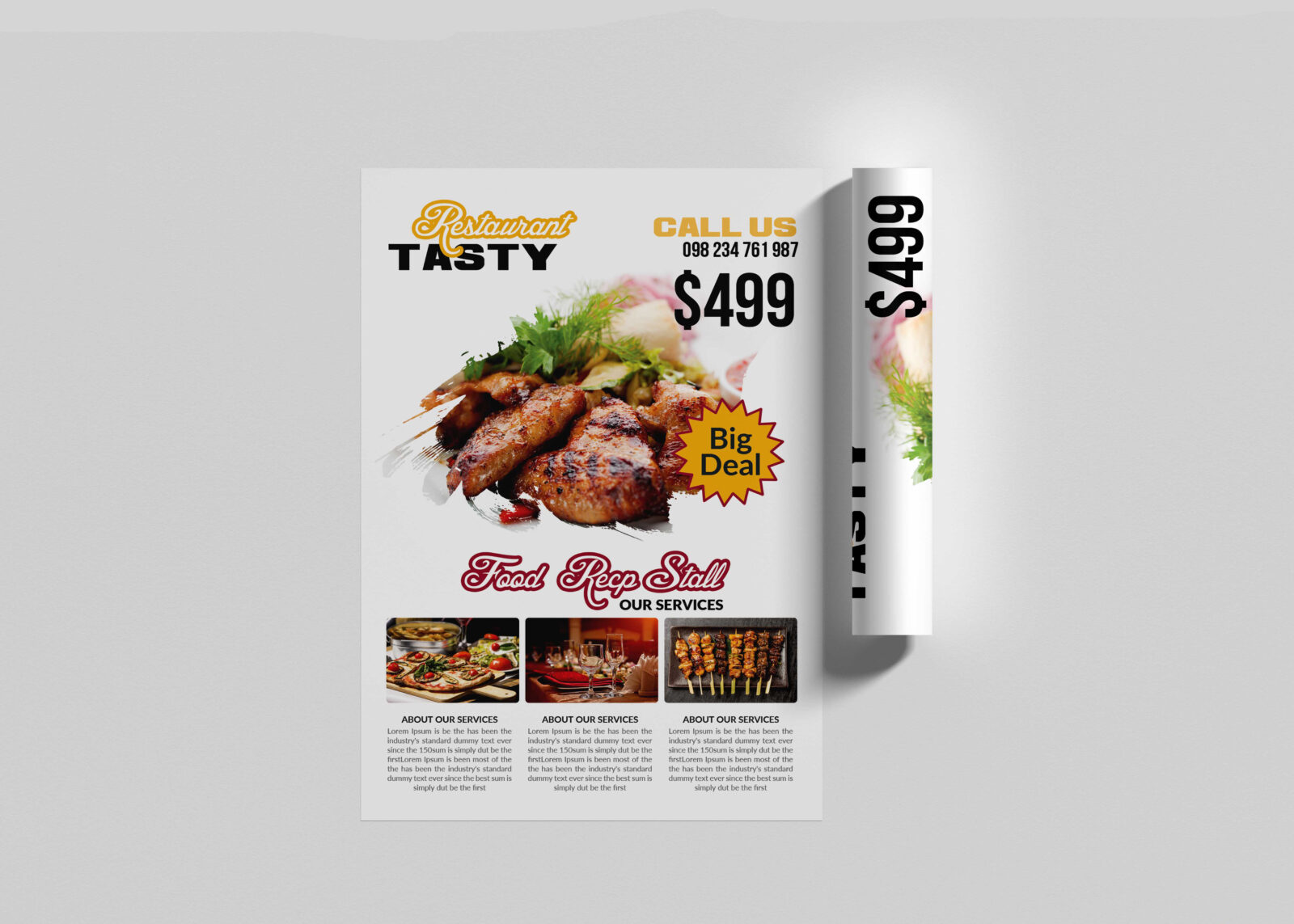 Restaurant Food Flyer Template 2020