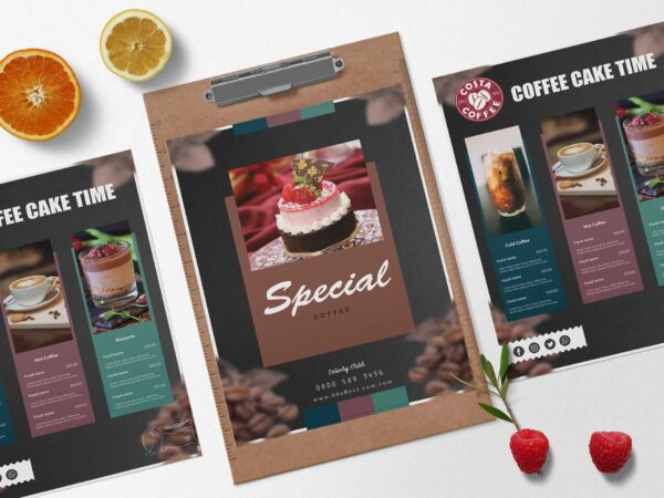 Special Coffee Cafe Menu Design