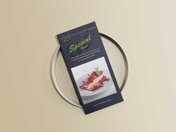 Special Food Menu Tri-Fold Design