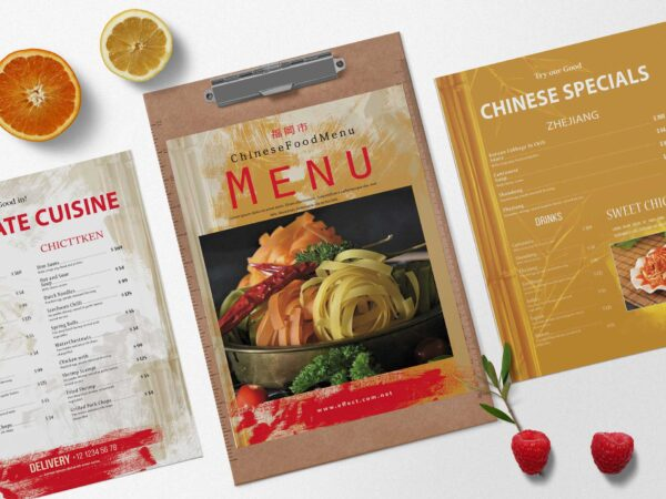 Sushi Bar Chinese Menu Design