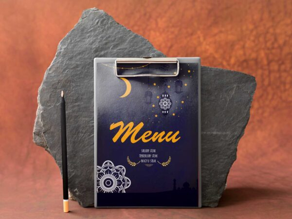 Arabian Nights Menu PSD Design