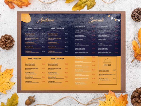 Birthday Party Menu Design