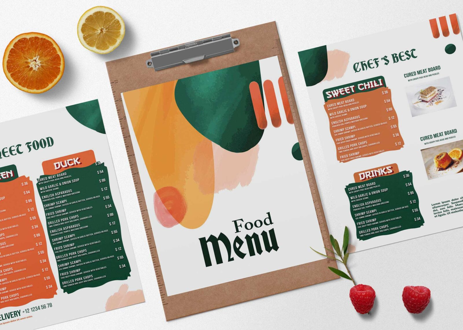 Colorful Menu Design