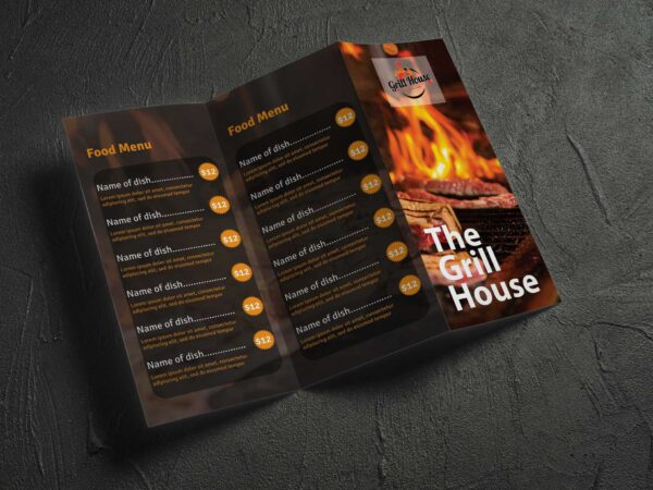 Food Menu Brochure Design Template