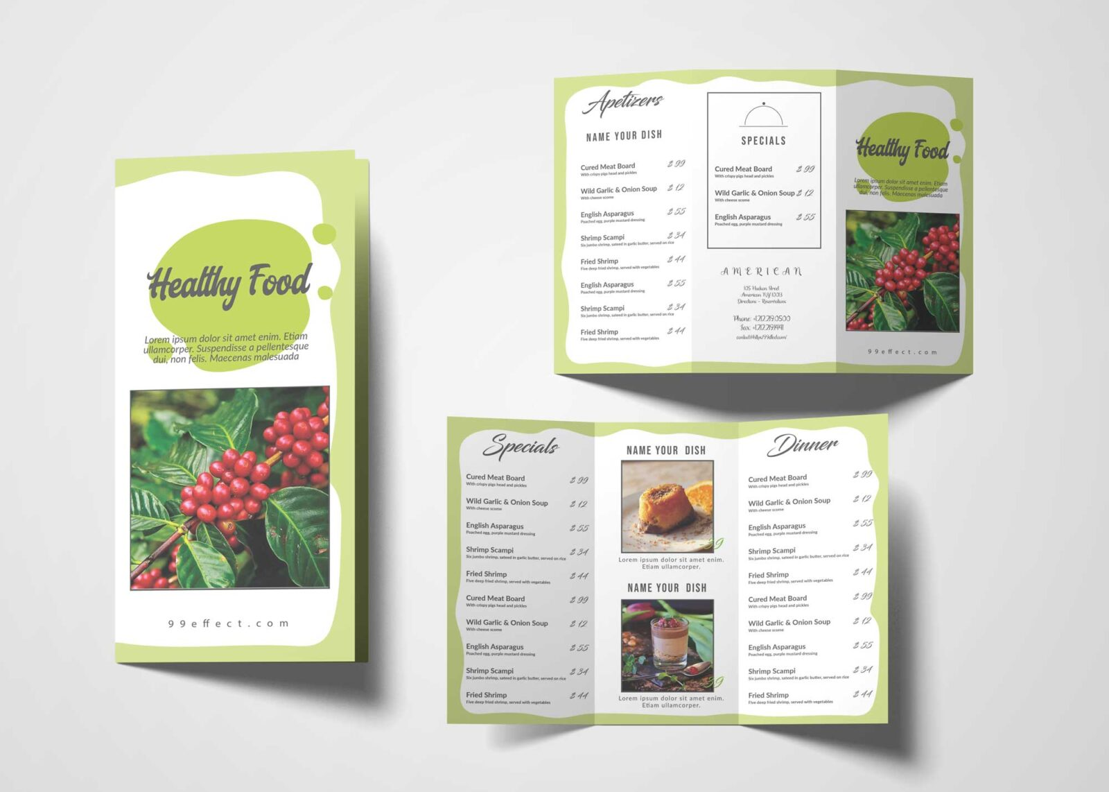 Homemade Healthy Restaurant Menu Design