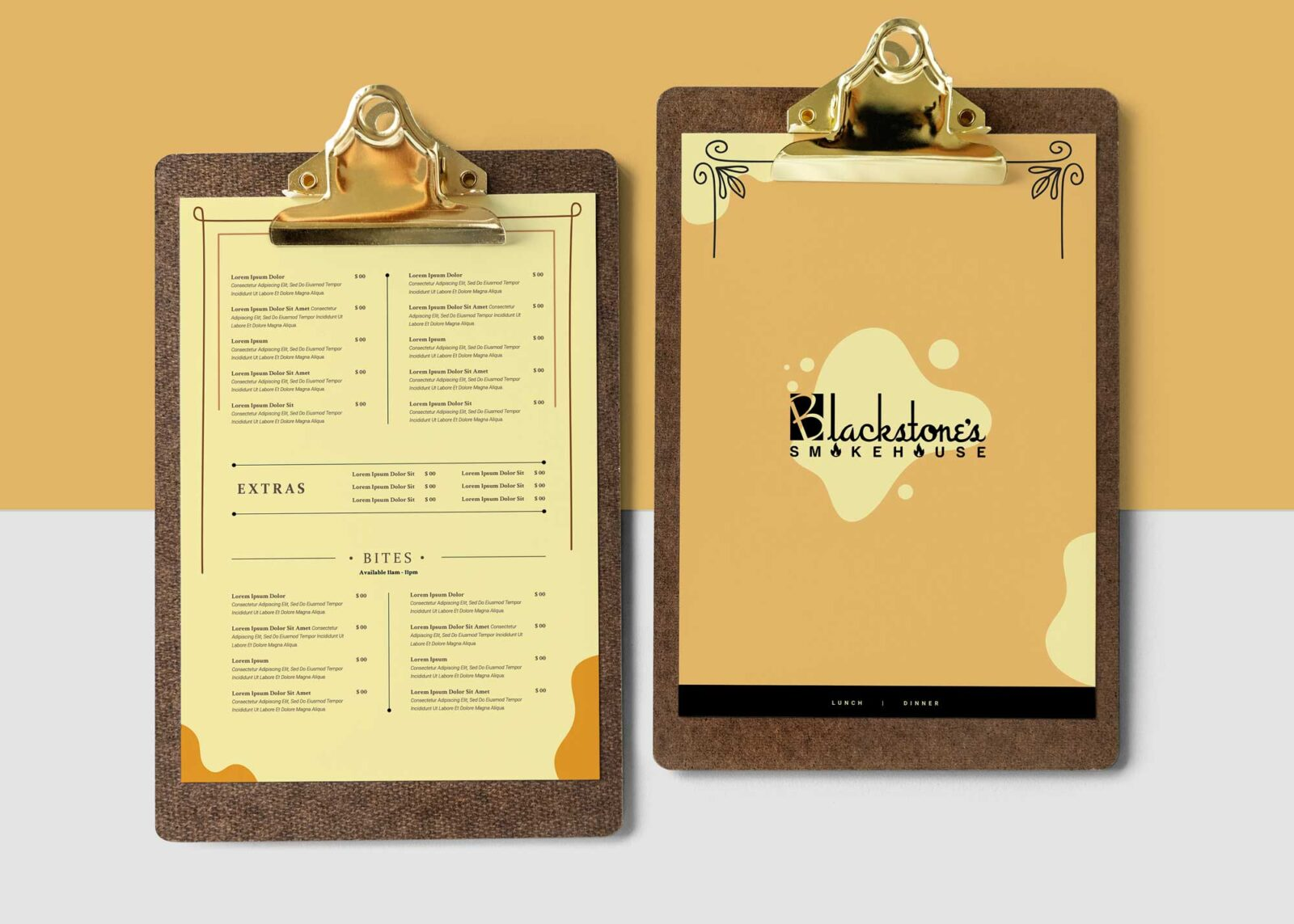 Marble Healthy Food Restaurant Menu Design