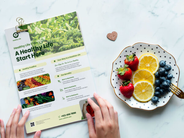 Natural Organic Food Flyer
