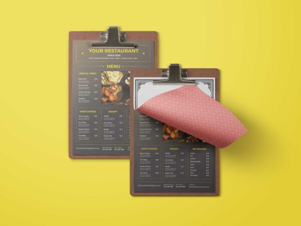 Restaurant Fast Food Menu Design